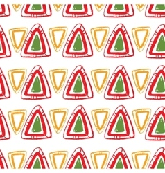 abstract pattern for design red triangles vector image