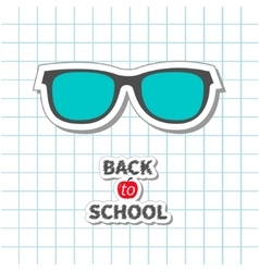 Back to school Glasses icon on paper sheet vector image vector image