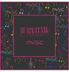 Beautiful abstract for World Music vector image