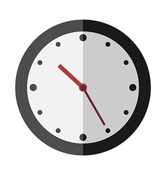 Flat style clock isolated vector