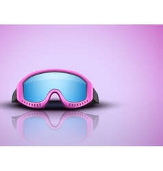 Light Background with pink ski goggles vector image