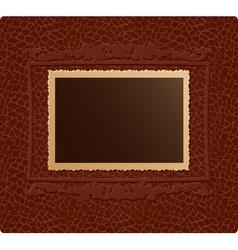 Retro photo on skin background vector image vector image