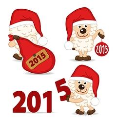 Sheep symbol of 2015 year vector