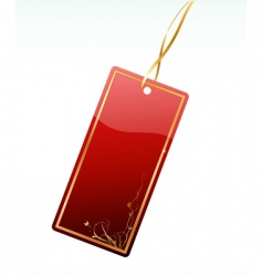 shiny red price tag vector image