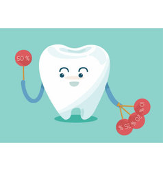 Tooth show sale up vector image
