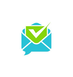 Email checklist logo vector