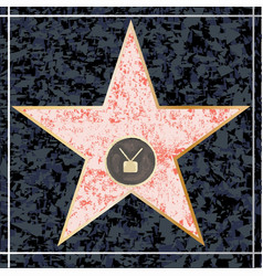 hollywood tv walk of fame vector image