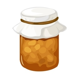 Jar of homemade jam or marmalade dessert vector image