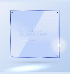 light blue square glass - light background vector image