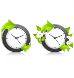 nature clock vector image vector image