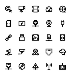 Network technology icon 2 vector