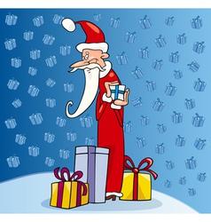 santa claus christmas cartoon vector image vector image
