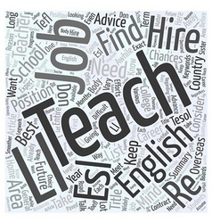 Teach English Word Cloud Concept vector image vector image