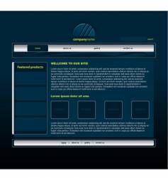 blue website vector image