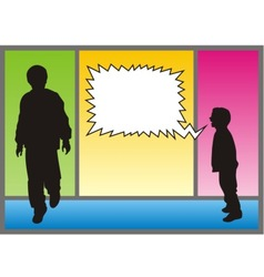 boy shouting vector image vector image