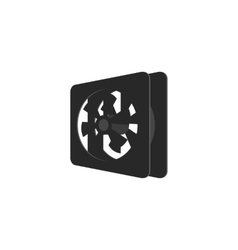 Cooler for computer icon black monochrome style vector image vector image