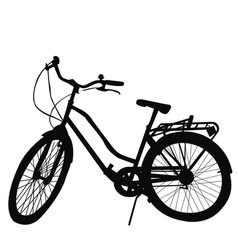 silhouette of bicycle on white background vector image