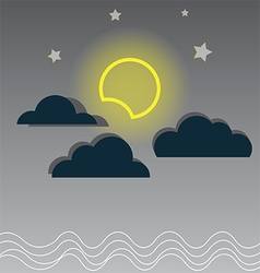 130715Night cloudy sky vector