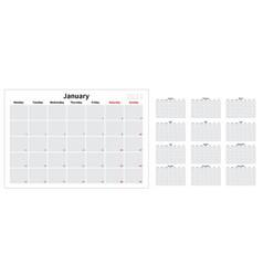 2021 calendar vector