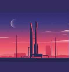a rocket spaceship at vector image