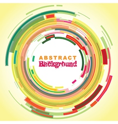abstract colourful circle background vector image vector image