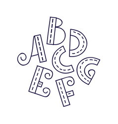 Alphabet hand-drawn a g vector