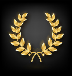 Award laurel symbol of victory and achievement vector