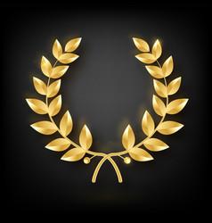 Award laurel symbol victory and achievement vector