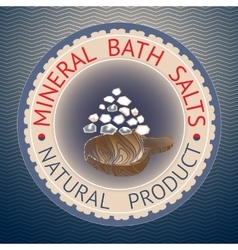 Badge template with text Mineral Bath Salts vector image
