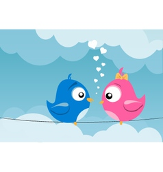 Birds in love vector