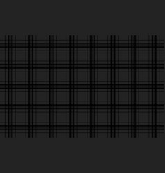 black abstract background seamless tartan pattern vector image