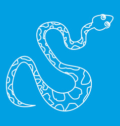 Black spotted snake icon outline style vector