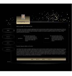 black website vector image