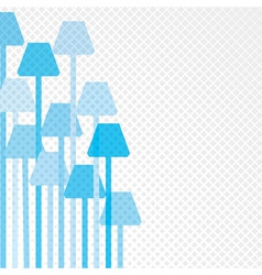 Blue lamp background vector image