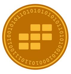 Calendar grid digital coin vector