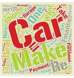 Car Loans Take Your Pick text background wordcloud vector image