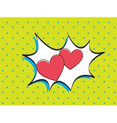 Card love vector image