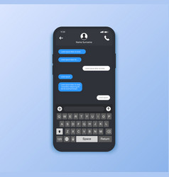 chat interface sms messages speech bubbles short vector image