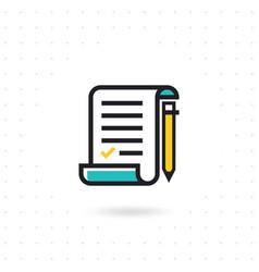Checklist with pencil vector
