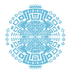 Circular decorative geometric ethnic pattern vector