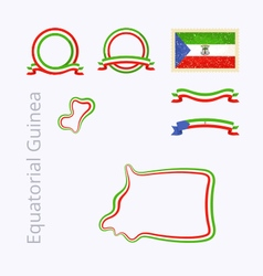 Colors of Equatorial Guinea vector image