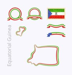 Colors of Equatorial Guinea vector