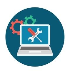 Computer Service Icon vector