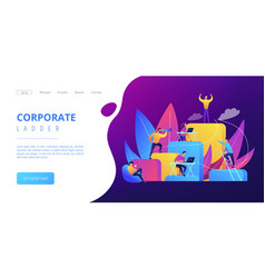 corporate ladder concept landing page vector image
