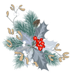Decoration with mistletoe vector