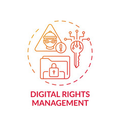 Digital rights management concept icon vector