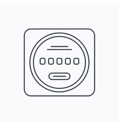 Electricity power counter icon Measurement sign vector image