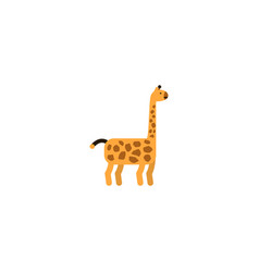 Flat giraffe element of flat vector