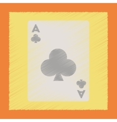 flat shading style icon playing cards vector image