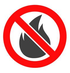 Forbidden fire icon vector